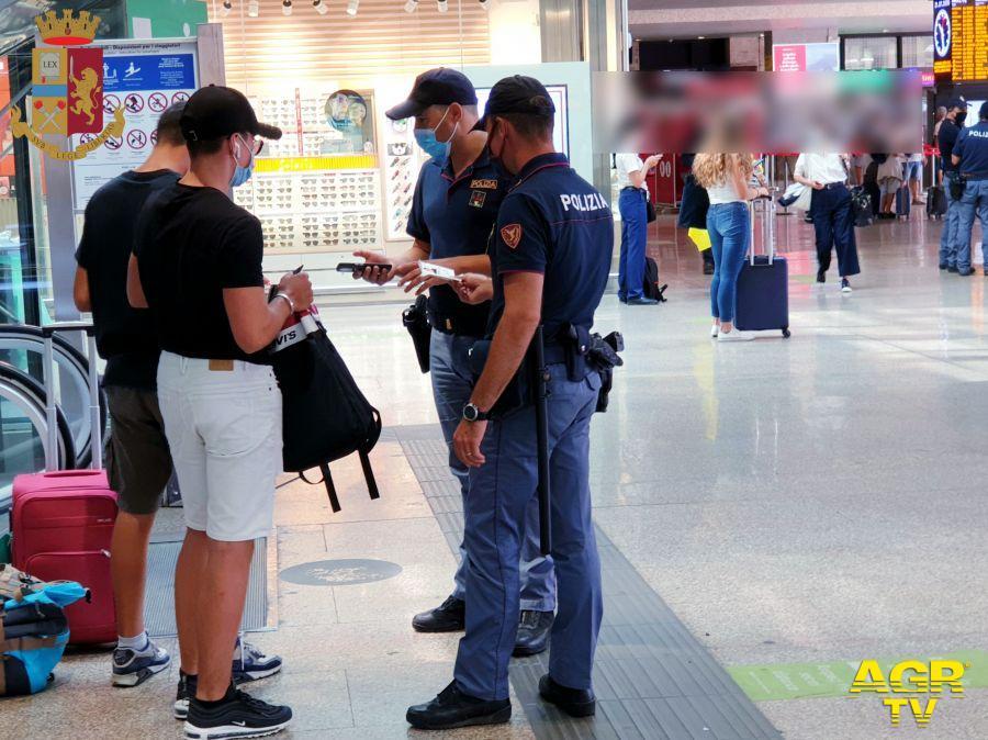 polizia controlli stazione