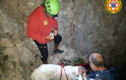 Gran Sasso, salvato con il suo cane dal Soccorso Alpino a 2700 metri