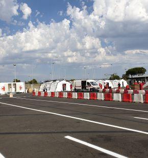 Fiumicino, inaugurato nel pomeriggio nuovo Drive-In per tamponi rapidi