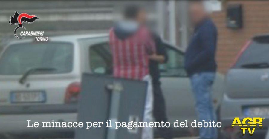 Torino. Usurai prestavano denaro ottenuto con il traffico di stupefacenti, 17 arresti dei Carabinieri