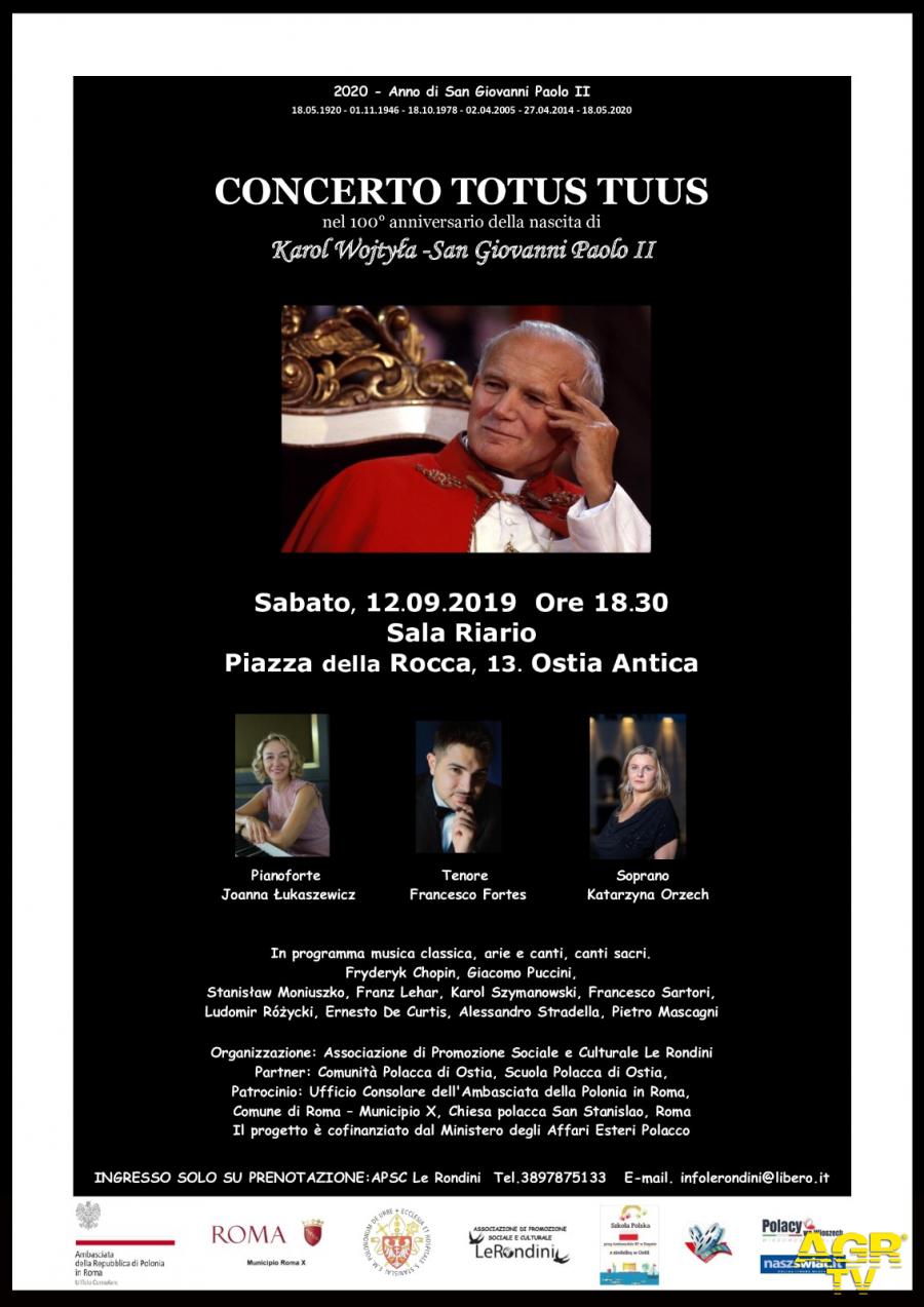 concereto papa Gioanni Paolo II loc.