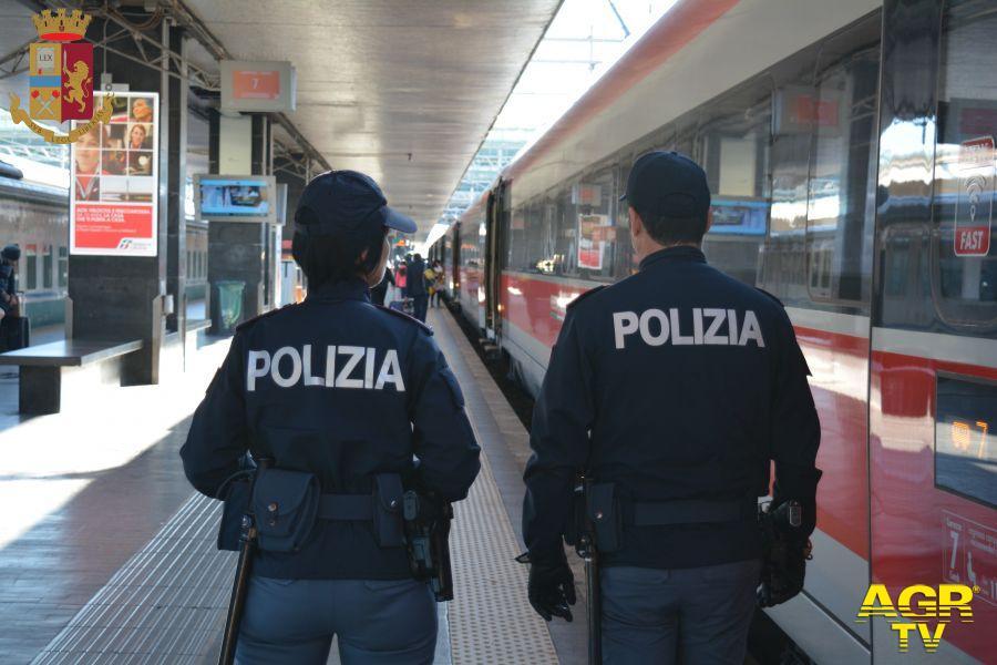 polizia controlli treni