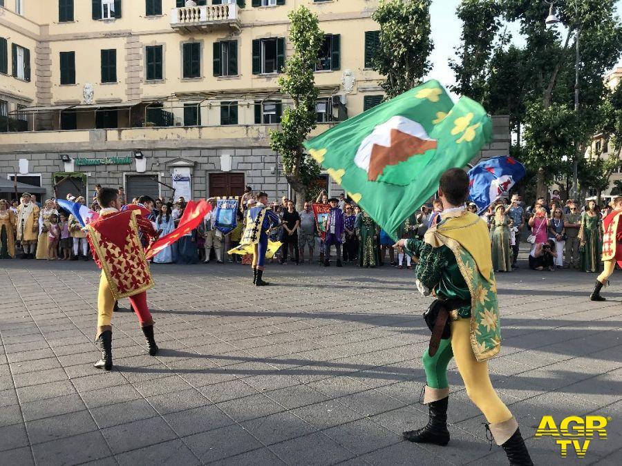 sbandieratori piazza Anco Marzio