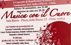 Ostia Antica, Musica con il cuore....concerto di beneficenza alla sala Riario
