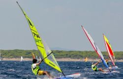 Windsurf Francesco Bianchi in regata