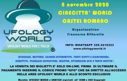 Ufology World per l'Italia il prossimo 8 novembre a Cinecittà World