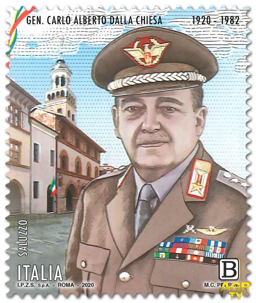 Un francobollo in ricordo dell'opera del Generale Carlo Alberto Dalla Chiesa
