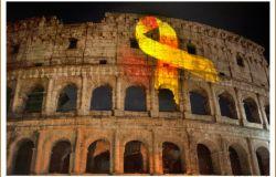 Bambini guerrieri, la sfida al cancro illumina il Colosseo