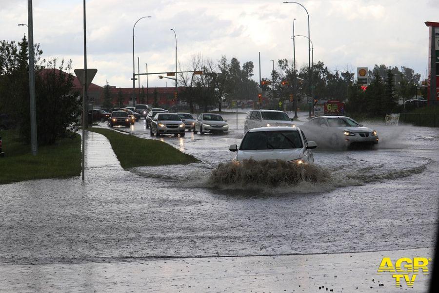 IX Municipio, strade e piazze sott'acqua