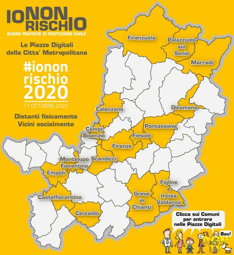 'Io non rischio 2020' nella Metrocittà Firenze: con un clic le informazioni utili sulla tua zona