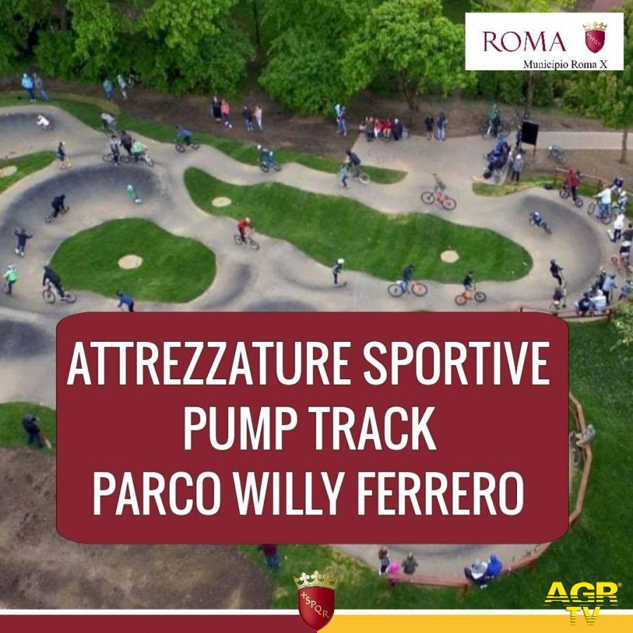 Ostia, nel parco Willy Ferrero il Pump Track