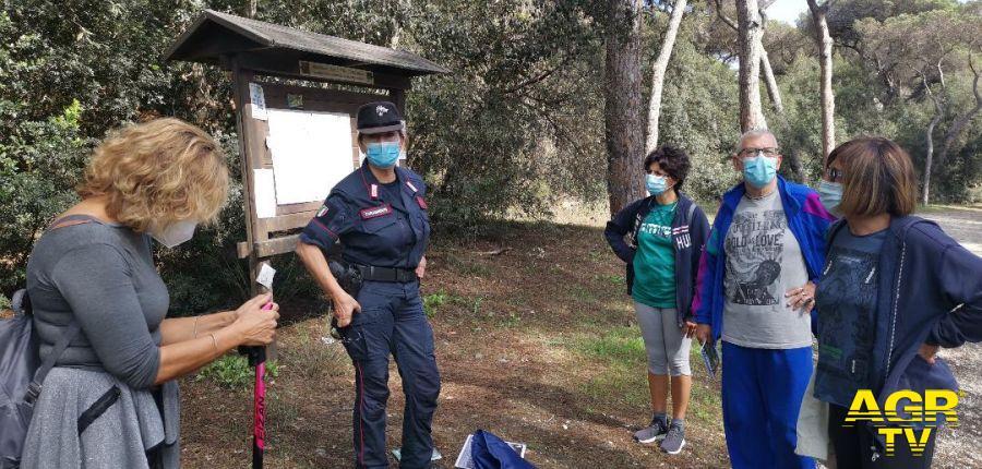 Castelfusano carabinieri forestali escursione guidata