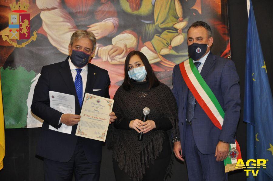 Caiazzo conferimento cittadinanza onoraria Questore Roma Carmine Esposito