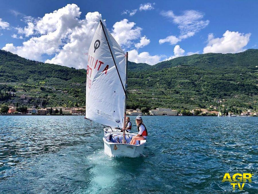 optimist sul lago di Garda