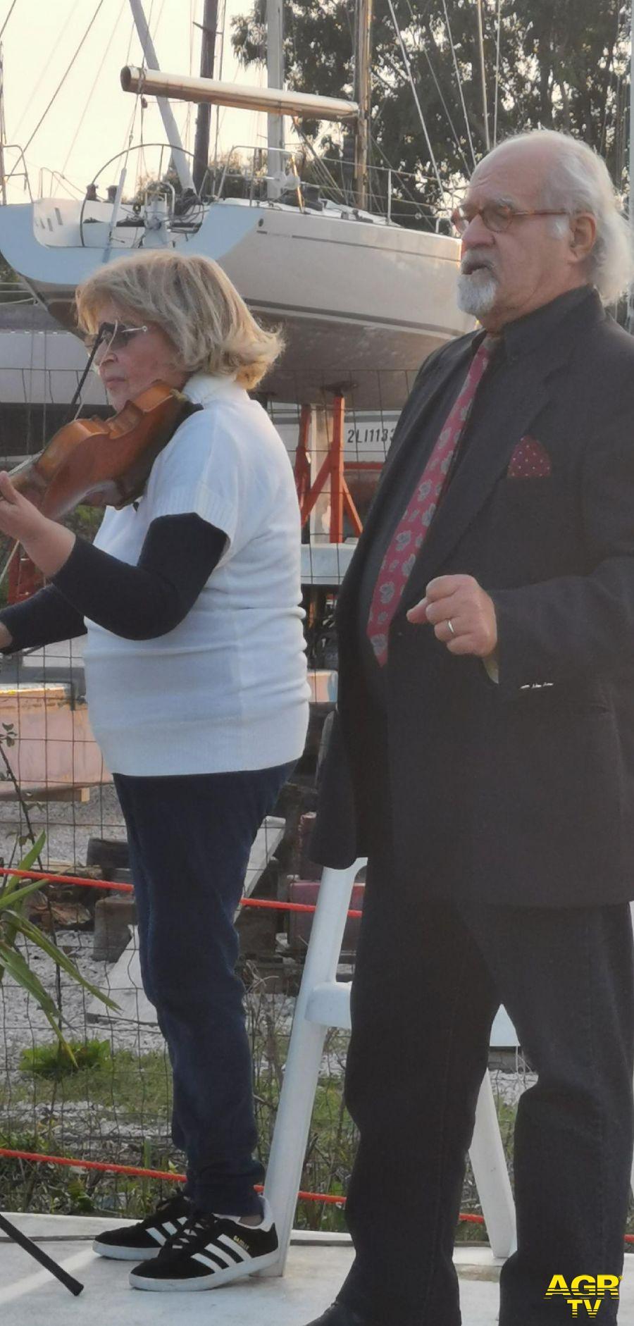 Ostia in arte Carmela Rotulo violinista e Mimmo Filetto tenore