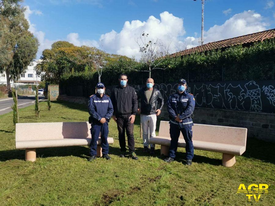 Pomezia, le nuove alberature piantate questa mattina dalla polizia locale