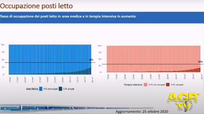 Grafici sull'occupazione di posti letto, dal sito del Ministero della Salute