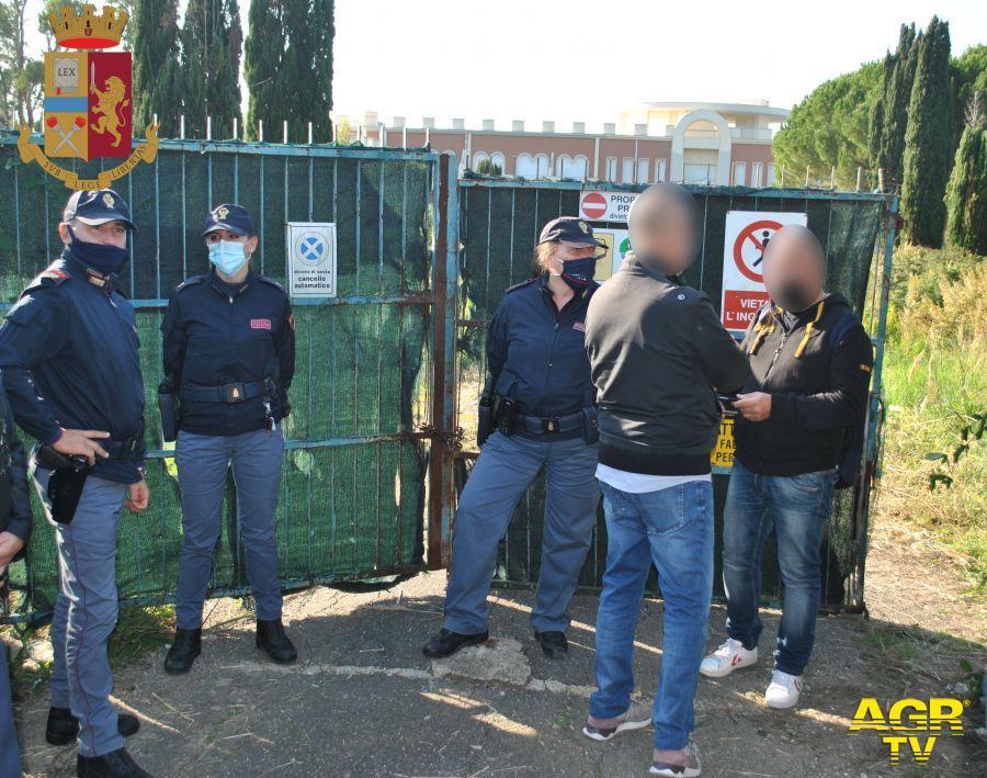 Blitz della polizia a Santa Marinella, liberato l'ex-residence Eucalipto dagli occupanti