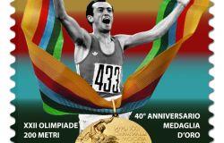 Emesso francobollo dedicato a Pietro Mennea