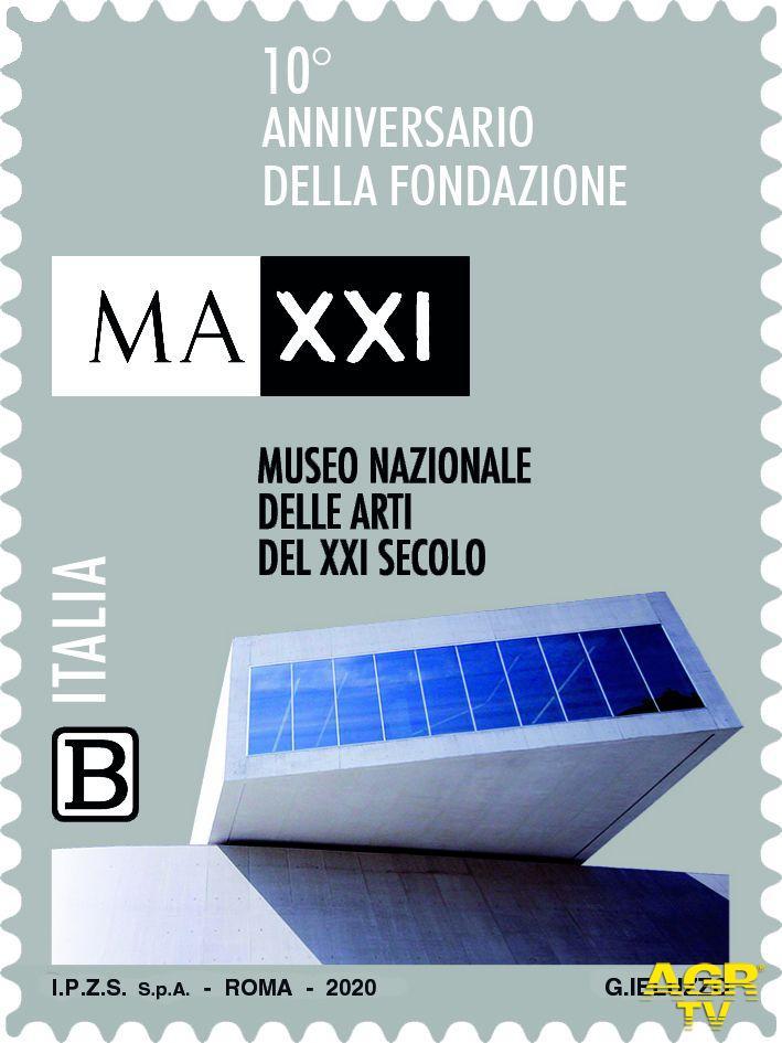 Il Maxxi museo delle arti, tra le Eccellenze del sapere in filatelia