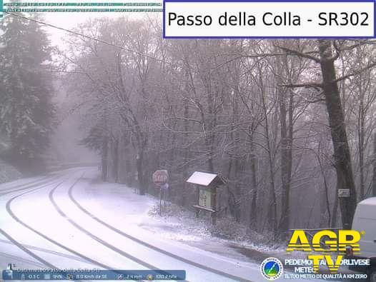Metrocittà Firenze, nevicate sui passi appenninici
