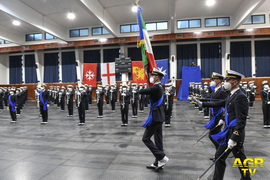 Il giuramento degli allievi dell'Accademia navale