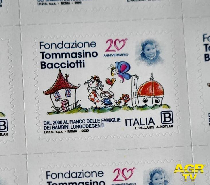 Un francobollo per i venti anni della Fondazione Tommasino Bacciotti onlus