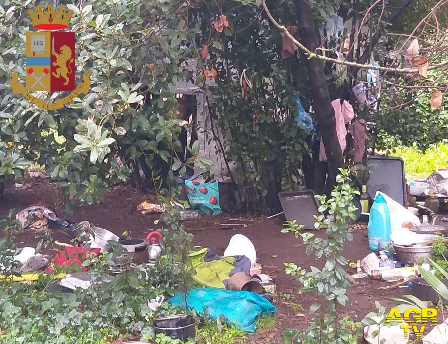Sgomberato accampamento abusivo nella riserva naturale di Monte Mario