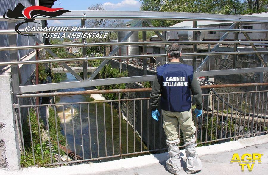 Carabinieri, canale artificiale Regi Lagni, nel mirino gli scarichi abusivi