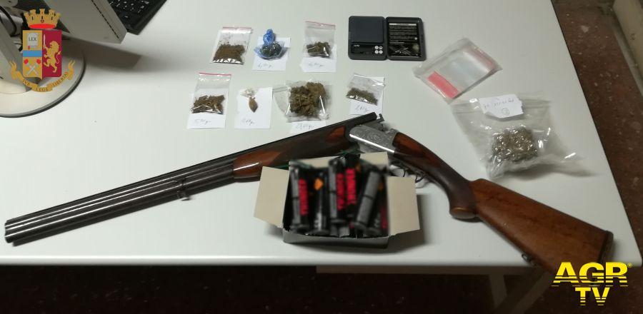 Polizia Velletri droga, soldi ed un fucile sequestrati