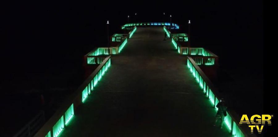 Il Pontile di Ostia si accende di giochi di luce