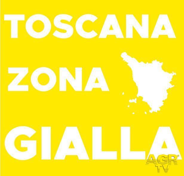 Toscana in area gialla da lunedì 11 gennaio