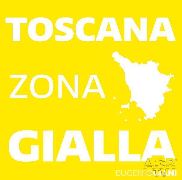 Toscana Zona gialla anche per la prossima settimana