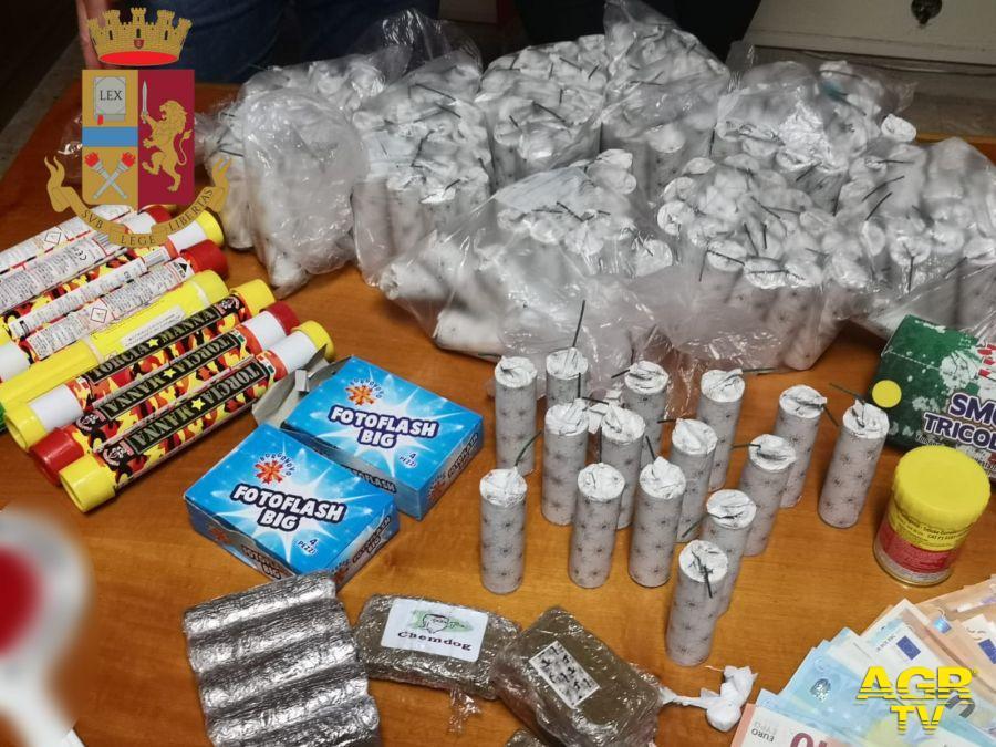polizia bombe carta e droga