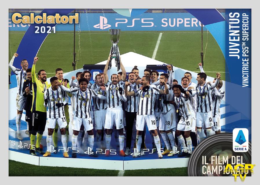Panini, figurina extra per la vittoria della Juventus in Supercoppa