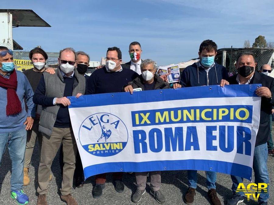 Eur, la Lega tra la gente, presentato il programma di rilancio della città