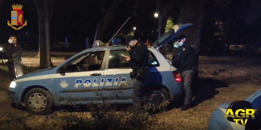 Roma: Controlli della Polizia di Stato