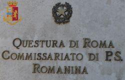 Roma. Polizia di Stato. Lancia sassi contro il commissariato.  Arrestato romano di 21 anni