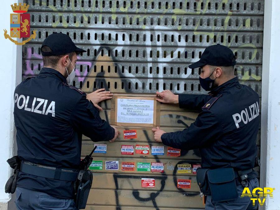 sanzionate e chiuse 2 attività commerciali dalla Polizia di Stato