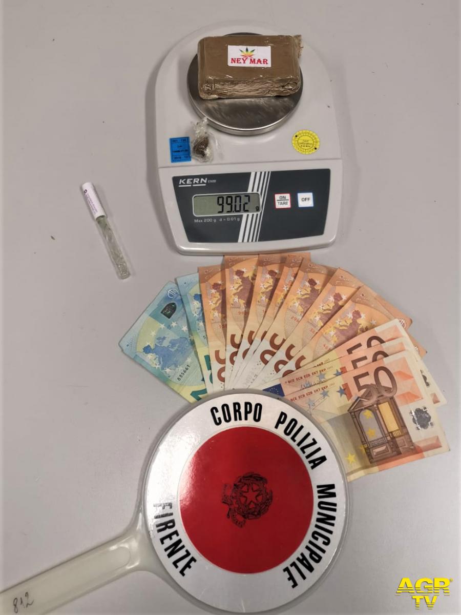 Comune di Firenze Firenze. Vendita all'ingrosso di droga bloccata dalla Polizia Municipale, due persone denunciate