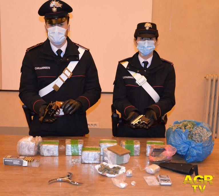 Carabinieri-Comando provinciale di Firenze Armi e stupefacenti in un appartamento di Campo di Marte