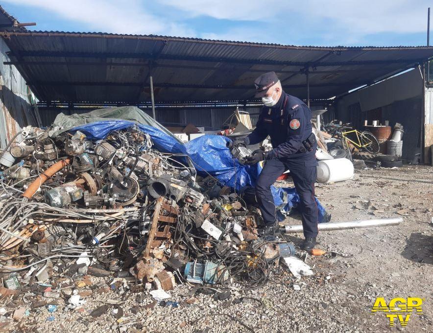 Sesto, sequestrata dai Carabinieri Forestali un'area agricola per abusi edilizi e gestione illecita di rifiuti