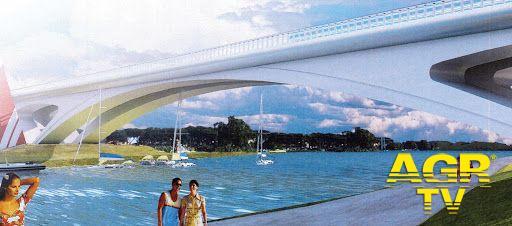 un disegno del nuovo ponte della scafa