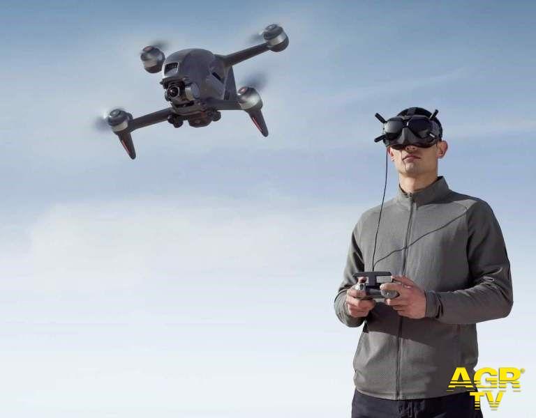 mini drone in azione