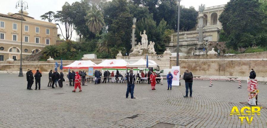 Donazione sangue Piazza del Popolo