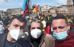 Enzo Foschi v,segretario Pd Lazio, Flavio Vocaturo Pd AMA, Roco Lamparelli circolo del lavoro Pd