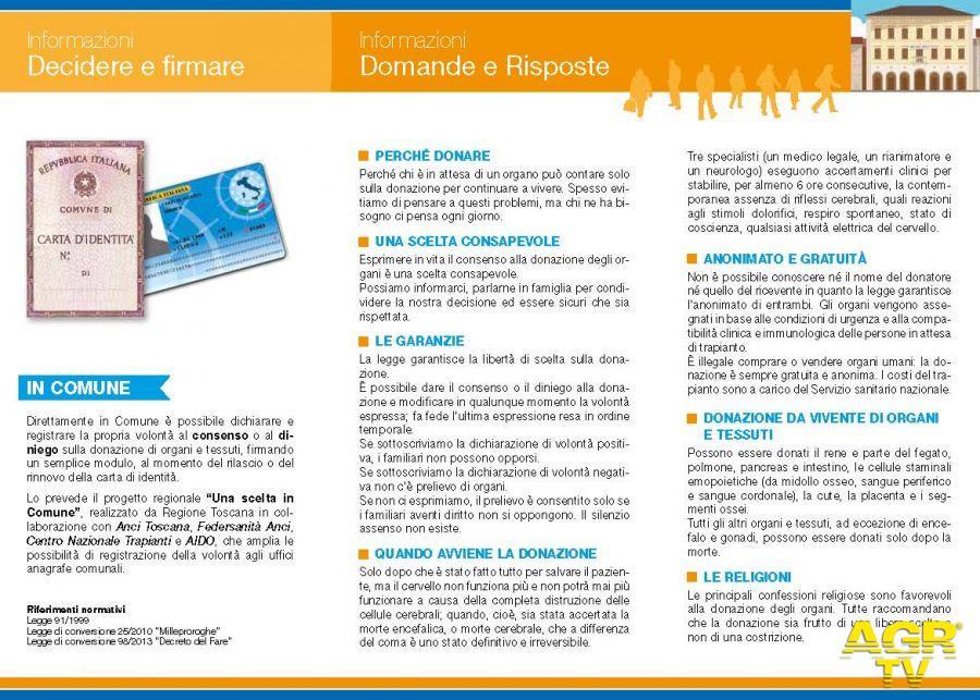 Anagrafe, con la nuova carta di identità il 43% dei fiorentini dice 'sì' alla donazione degli organi