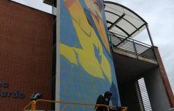 Fiumicino, il Parco Leonardo riqualifica con i murales di Alessandro Etsom la stazione ferroviaria