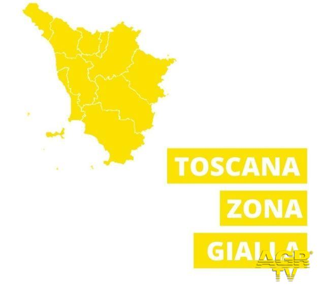 Toscana, tutta la regione in zona gialla