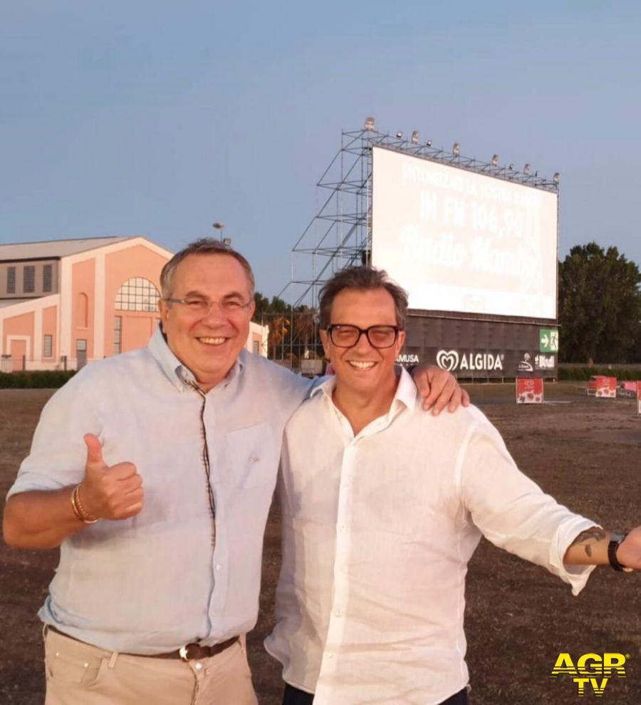 Paolo Paone con il regista Gabriele Muccino